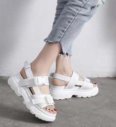 Veltura Sandals in 2020 Kid Shoes, Cute Shoes, Girls Shoes, Me Too Shoes, Shoe Boots, Shoes Sneakers, Shoes Sandals, Girls Footwear, Korean Sandals