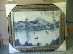 Loons Gliding on a Lake Painting in Oils 20 X 24 by LinsFinalTouch