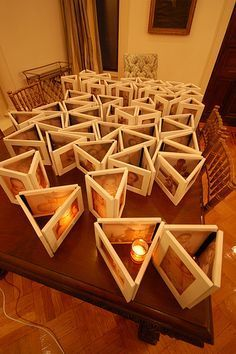 Diy picture frame centerpiece a few of the things that for Picture frame candle centerpiece