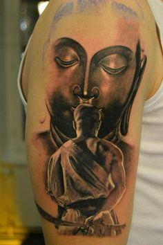 buddha samurai tattoo design