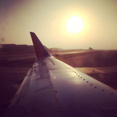 May 5: Watching the sunrise from the plane to Kansas City.