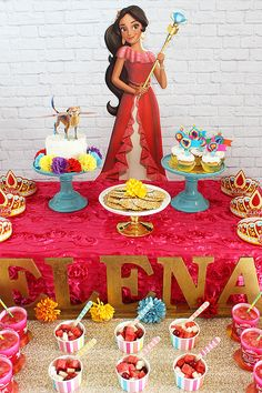 Elena of Avalor, party ideas and recipe by Michelle's Party Plan-It. The first Latina princess is now on the Disney Channel on Fridays at 7:30 p.m.