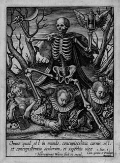 'Allegorie des todes' – engraving by Hieronymus Wierix (1553-1619).