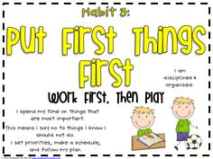 Experimenting With 7 Habits of Happy Kids - Leader In Me 7 Habits Tree, 7 Habits Posters, Covey 7 Habits, 3rd Grade Thoughts, Put First Things First, Seek First To Understand, Teacher Websites, Teacher Tools, Teacher Resources