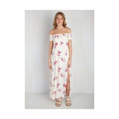 Mink Pink Boho Long Short Sleeves A-line Gliding (140 AUD) ❤ liked on Polyvore featuring dresses, apparel, fashion dress, multi, a line maxi dress, bohemian dress, off the shoulder maxi dress, long sleeve short dress and long maxi dresses