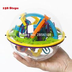 158 Levels 3D Magic Perplexus Maze Ball Intellect Ball Rolling Ball Puzzle Cubes Game IQ Puzzle Funny Balance Educational Toys