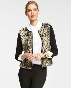 Enjoy 40% off everything for Trends with Benefits (Sign up to get the code) - Furry Leopard Sweater Jacket