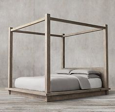 Reclaimed Russian Oak Platform Bedroom Collection | Restoration Hardware