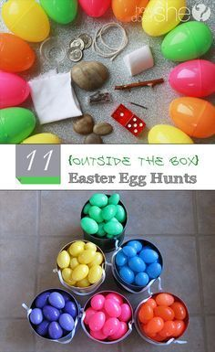 Creative Easter Egg Hunt Ideas that aren't the normal hunts. Fun ways to mix up the Easter holiday with a new kind of Easter Egg hunt.