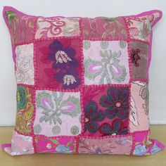 """16"""" Patchwork Vintage Pillow Cushion Cover Throw Ethnic Decorative Indian Art #Unbranded #Ethnic"""