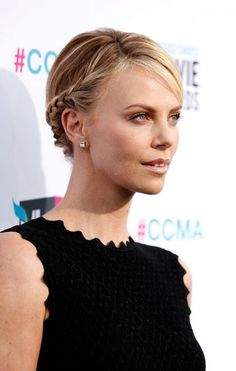 Charlize Theron braided beauty