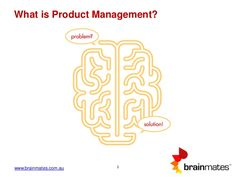 """This Brainmates presentation seeks to answer the question """"What is product management?"""" This presentation investigates this important strategic role and illust… Leadership Tips, Read Later, Problem And Solution, Management Tips, Investigations, Presentation, How To Plan, This Or That Questions, Business"""