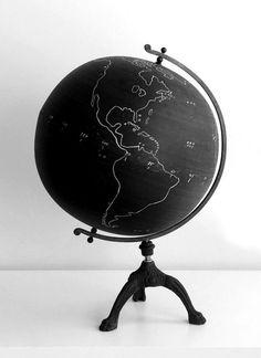 "blackboard globe.""Education: the path from cocky ignorance to miserable uncertainty."" ― Mark Twain"