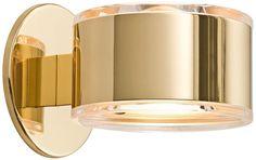 Holtkoetter Polished Brass Modern Up-Down Wall Sconce