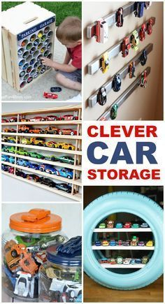 15 Clever Toy Car Storage Ideas Did your kids get a ton of new toy cars this holiday? Now I'm on the hunt for some car storage ideas to contain them. Toy Car Storage, Crate Storage, Kids Storage, Matchbox Car Storage, Baby Storage, Storage Ideas For Kids, Storage For Toys, Clever Storage Ideas, Pvc Pipe Storage
