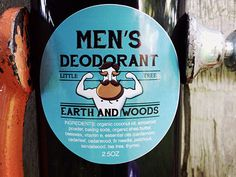 Men's Deodorant: Earth and Woods scent/ All by LittleTreeNaturals