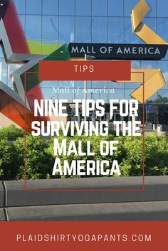 Click to discover my nine tips for visiting the Mall of America during its 25th birthday year! Hotel stays, places to eat, Fly Over America and more via Plaid Shirt Yoga Pants.