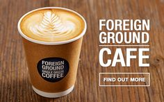 Foreign Ground Cafe: Finest coffee, sourced from the world's top coffee-producing countries. Warmth and soothing Single Origin, Wine Baskets, Wine Case, Warm Food, Cheap Wine, Wine Bottle Holders, Wines, Latte, Healthy Living