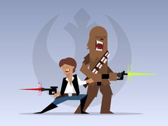 A New Hope: Han and Chewy designed by Gregory Hartman. Connect with them on Dribbble; Simple Character, Character Design, Polygon Art, A New Hope, Boys Who, Star Wars, Fictional Characters, Vectors, Illustrations