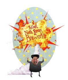 Digital illustration... On North Korea love affair with fireworks...