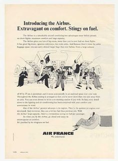Air France Airlines Introducing Airbus Jet (1974)