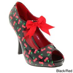 Pinup Couture Women's 'Cutiepie-07' Printed Mary Jane Pumps $66.99