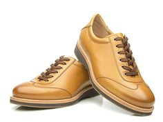 SHOEPASSION.com — Goodyear-welted men's trainer in cognac