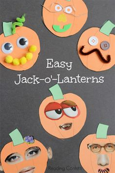 Easy Jack-o-Lanterns from Reading Confetti