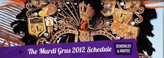 Mardi Gras 2012 parade schedule