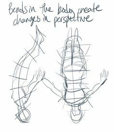 Bending the body creates changes in perspective, text, falling; How to Draw Manga/Anime