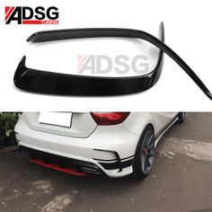 ♢ A Class Front splitter 2016 -on. For Ford Mustang Coupe Carbon fiber rear boot spoiler wing Lip IN. Carbon Fiber Style Rear Trunk Spoiler For BWM 3 Series AU. A Class Amg, C Class, Mercedes A Class, Mercedes Benz, A45 Amg, Benz C, 3d Prints, Bmw 3 Series, Audi A4