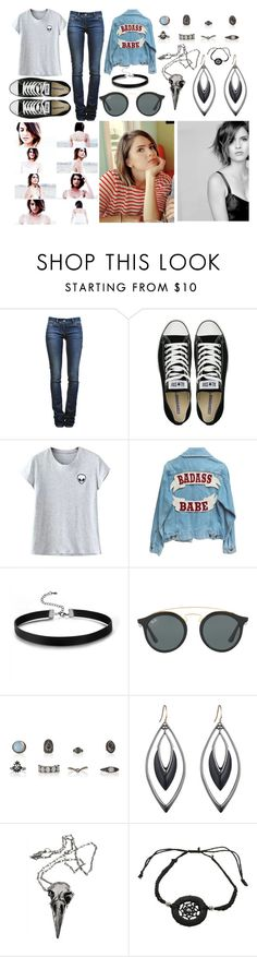 """""""++FLORENCIA++"""" by mckenzi-blueh ❤ liked on Polyvore featuring Étoile Isabel Marant, Converse, Chicnova Fashion, Ray-Ban, Alexis Bittar and Pamela Love"""