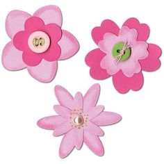 Sizzix Sizzlits Die Set, 3/pkg, Flower Layers #3