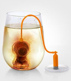 Deep Tea Diver Infuser - can't even handle how adorable this is!