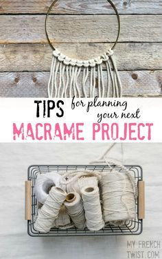 Finally... some tips that will make your next macrame project so much easier!!! http://www.myfrenchtwist.com/tips-for-planning-your-next-macrame-project/