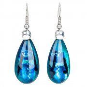 pear drop earrings (turquoise)