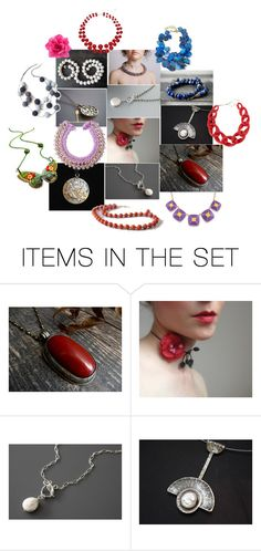 """""""Cool Necklace Designs"""" by crystalglowdesign ❤ liked on Polyvore featuring art"""