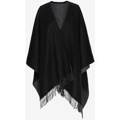 rag & bone Double Face Wrap Scarf ($425) ❤ liked on Polyvore featuring accessories, scarves, black, wool shawl, wrap scarves, fringe scarves, black shawl and black wrap shawl