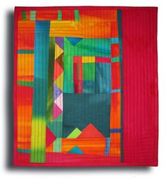 "This Way Up    13.75 x15"" by Melody Johnson Quilts, via Flickr"