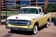 1957 Ford Yellow and White Pick-Up.