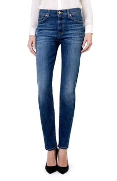 188e06a1 Details about NEW BNWT womens 7 for all MANKIND ROZIE High Rise SLIM JEANS  size 24 uk 6 30