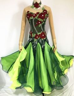 Ballroom-Competition-Dance-Dress-Green-Waltz-Smooth-Gown-2017-New-Custom-made-12
