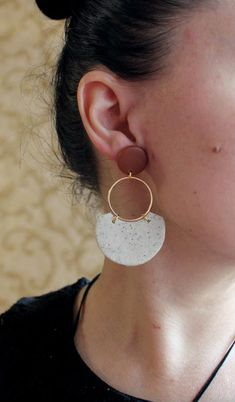 Diy Earrings Kit, Dangly Earrings, Earrings Handmade, Rose Earrings, Statement Earrings, Metal Jewelry, Diy Jewelry, Jewelry Making, Jewellery