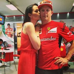 Kimi and his girlfriend #MinttuVirtanen #KimiRaikkonen #iceman #Ferrari #Barcelona #SpanishGP #F1 Saturday (May 10, 2014) pic5