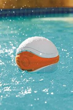 Designed to float along on the surface while you lounge in the pool, bath, or hot tub, this high-quality waterproof speaker streams your favorite digital tunes from any Bluetooth-compatible device with a range of over 30 feet.