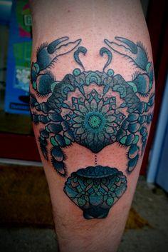 blue crab tattoo