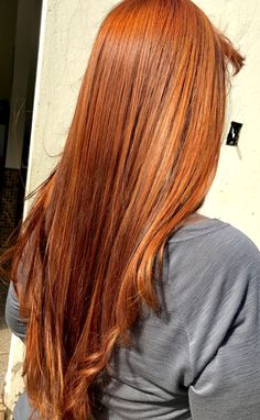 Igora 7.77 + Ox 30 Copper Red Hair, Ombre Blond, Red Hair Color, Red Color, Beautiful Red Hair, Red Hair Don't Care, Coloured Hair, Pretty Hairstyles, Latest Hairstyles
