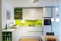 crédence de cuisine moderne en vert