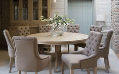 Round Dining Room Table And 6 Chairs - Are your dining room chairs appearing a bit tired? Is it true that your dining room co Dining Room Chairs, Round Kitchen Table, Kitchen Table Settings, Dining Furniture Makeover, Round Dining Table, Round Dining Table Sets, Dining Table Chairs, Round Dining Room Table, 8 Seater Dining Table