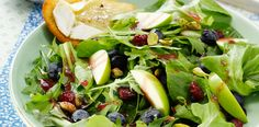 Blueberry and Apple Salad With Brie Toasts Recipe